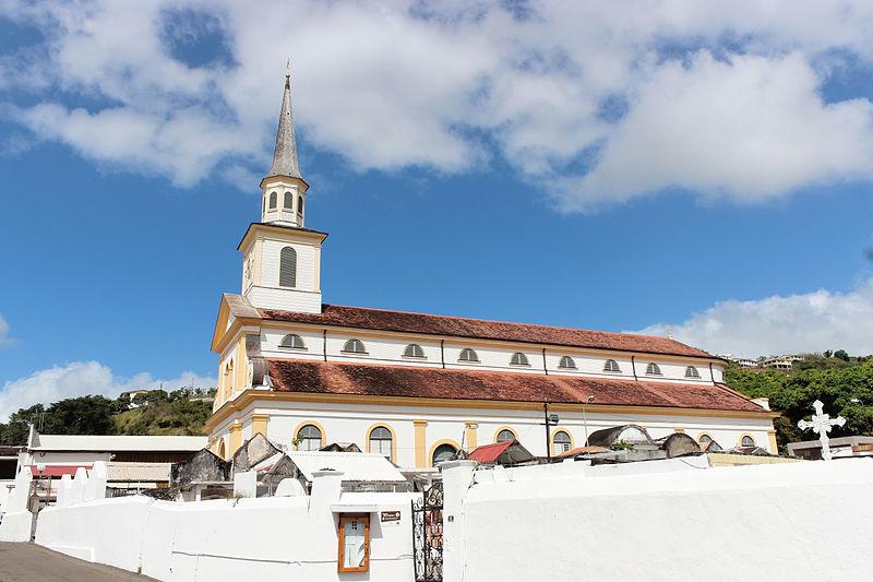 Photo du Monument Historique Église paroissiale Saint-Jacques situé à Le Carbet