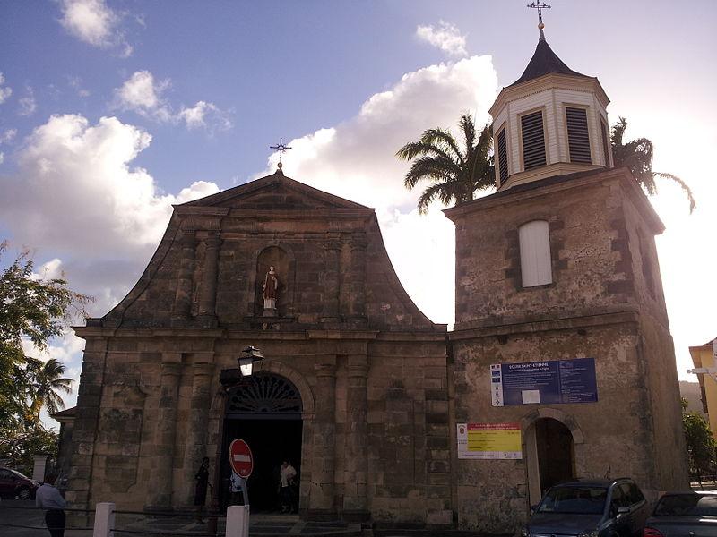 Photo du Monument Historique Eglise Saint-Etienne situé à Le Marin