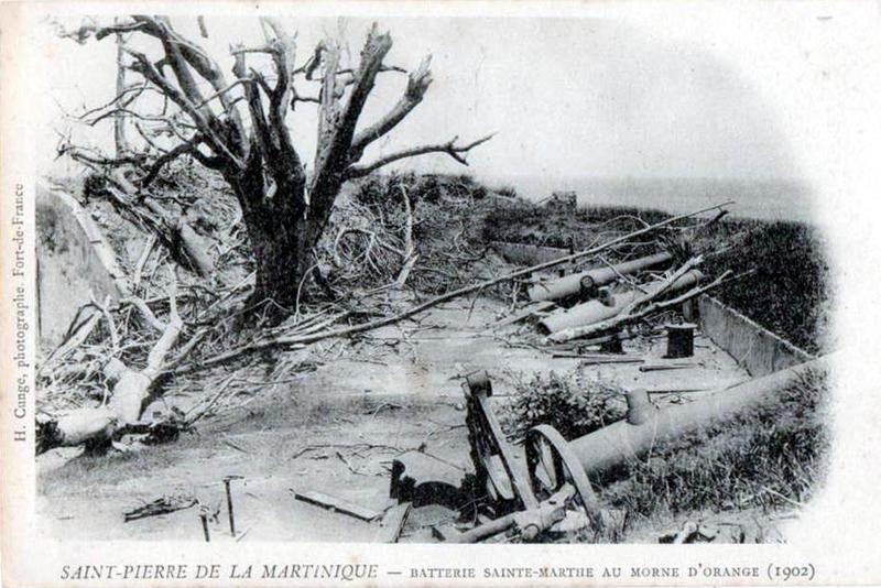Photo du Monument Historique Batterie Sainte-Marthe situé à Saint-Pierre