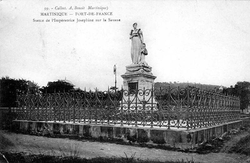 Photo du Monument Historique Statue de l'Impératrice Joséphine, située sur la savane situé à Fort-de-France