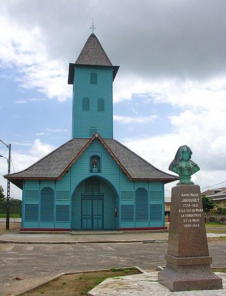 Photo du Monument Historique Eglise paroissiale Saint-Joseph-de-Mana et son presbytère situé à Mana