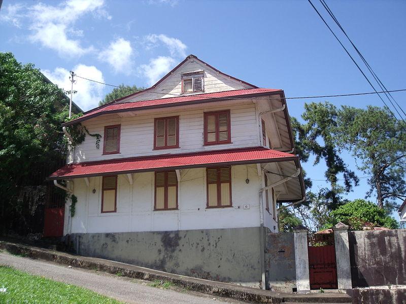 Photo du Monument Historique Maison situé à Cayenne