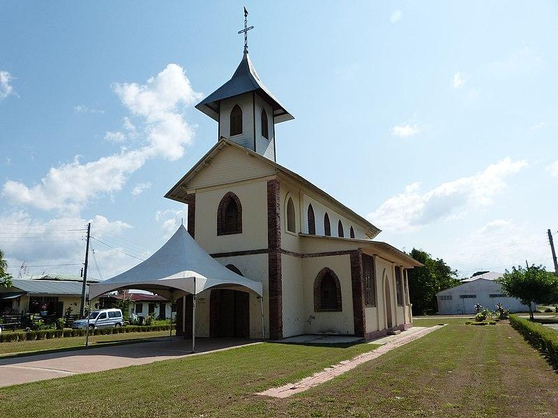 Photo du Monument Historique Eglise du bourg de Montsinery situé à Montsinéry-Tonnegrande