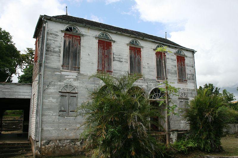 Photo du Monument Historique Domaine agricole de Maison Rouge, actuellement musée des arts décoratifs de l'Océan Indien (MADOI) situé à Saint-Louis