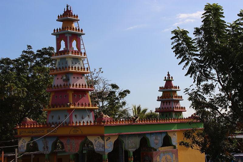 Photo du Monument Historique Temple hindouiste dit Pendiali, situé au Gol situé à Saint-Louis