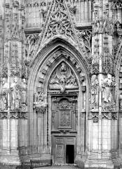Eglise Saint-Vulfran ou ancienne collégiale - Porte gauche