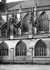 Eglise Notre-Dame - Façade sud, coupe