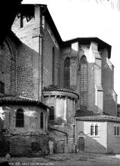 Eglise Saint-Salvy et son cloître - Façade sud