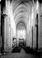 Eglise Saint-Salvy et son cloître - Nef, vue de l'entrée