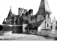 Château - Tourelles et souches de cheminées prises de la terrasse supérieure de la tour des Minimes