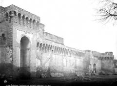 Remparts et leurs abords - Côté ouest, état avant restauration