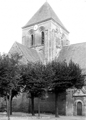 Eglise Saint-Aubin - Clocher, côté nord-ouest