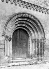 Eglise Saint-Aubin - Portail ouest