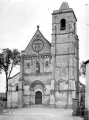 Ancienne église abbatiale, actuellement église paroissiale - Eglise, façade ouest