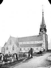 Eglise Notre-Dame-de-la-Couture - Façade nord, ensemble et cimetière