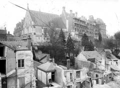 Château de Blois - Ensemble, au premier plan quartier en cours de démolition