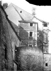 Château de Blois - Pignon nord de la partie François Ier, état avant restauration