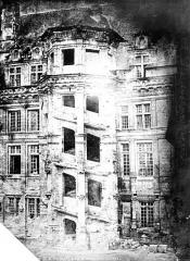 Château de Blois - Escalier de François Ier, état avant restauration