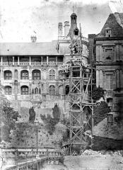 Château de Blois - Tour du Moulin, état pendant restauration
