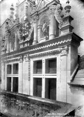 Château de Blois - Partie François Ier : lucarnes et balustrade, état après restauration