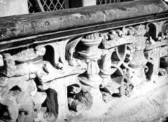 Château de Blois - Partie François Ier : détail d'une balustrade, état avant restauration