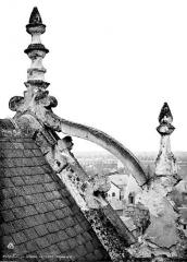 Château de Blois - Partie François Ier : arrière de la lucarne centrale