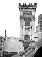 Château de Blois - Partie François Ier : souche de cheminée, état avant restauration