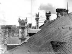 Château de Blois - Partie François Ier : souches de cheminées et toiture, état après restauration