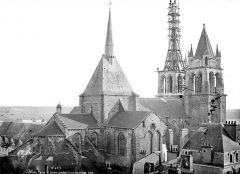 Eglise Saint-Nicolas-Saint-Lomer - Ensemble, état pendant la restauration de 1880