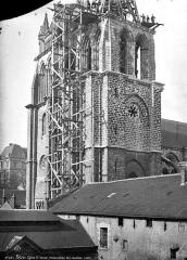 Eglise Saint-Nicolas-Saint-Lomer - Clocher échafaudé