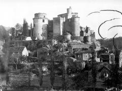 Château de Bonaguil - Ensemble, côté ouest