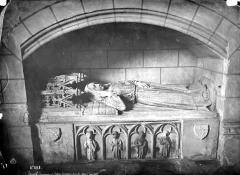 Eglise (église Saint-Pierre et collégiale Saint-Michel réunies) - Intérieur, choeur : tombeau sous enfeu
