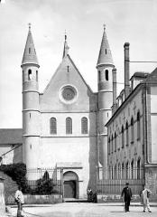 Hôpital Saint-Brice - Chapelle : Façade ouest