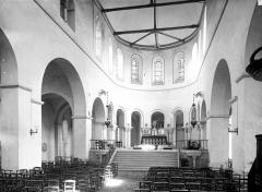 Hôpital Saint-Brice - Chapelle : Vue intérieure de la nef vers le choeur