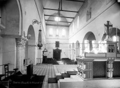 Hôpital Saint-Brice - Chapelle : Vue intérieure de la nef vers l'entrée