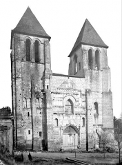 Ancienne abbaye Saint-Mexme - Façade ouest