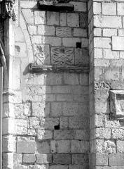 Ancienne abbaye Saint-Mexme - Façade ouest : Détail du parement