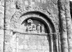 Eglise Saint-Martial - Façade ouest : Arcatures de droite
