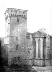 Ancienne abbaye de la Chaise-Dieu - Ensemble est : Donjon et abside
