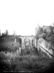 Ancien château - Façade sur la Loire : Douves et pont