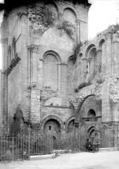 Ancienne abbaye Notre-Dame-du-Bourg-Dieu - Base du clocher
