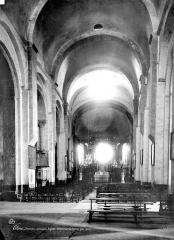 Eglise Sainte-Eulalie (ancienne cathédrale) - Vue intérieure de la nef vers le choeur