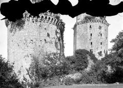 Ancienne forteresse ou ancien château de Largouët - Tour d'angle et donjon