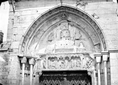 Ancienne abbaye Saint-Taurin - Portail de la façade sud : Tympan