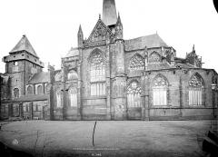 Abbaye bénédictine Notre-Dame d'Evron devenue Couvent de la Charité d'Evron - Eglise : Ensemble sud