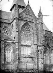 Abbaye bénédictine Notre-Dame d'Evron devenue Couvent de la Charité d'Evron - Eglise : Transept sud