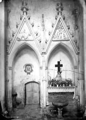 Abbaye bénédictine Notre-Dame d'Evron devenue Couvent de la Charité d'Evron - Eglise : Arcatures du transept nord