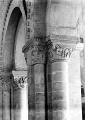 Ancien prieuré de Graville ou ancienne abbaye de Sainte-Honorine - Eglise : Chapiteaux des arcades (ensemble)