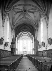 Eglise Saint-Aignan - Vue intérieure de la nef vers le choeur