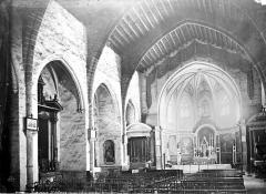 Eglise du Saint-Sacrement - Vue intérieure de la nef vers le choeur